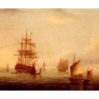 Sailing Vessels Off A Coastline