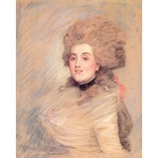 Portrait of an Actress in Eighteenth Century Dress
