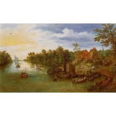 River Landscape with Landing