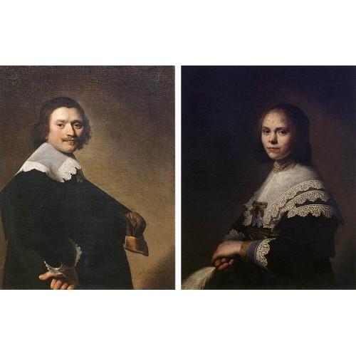 Portrait of a Man and Portrait of a Woman