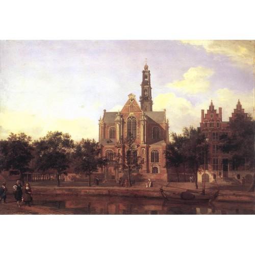 View of the Westerkerk Amsterdam 2