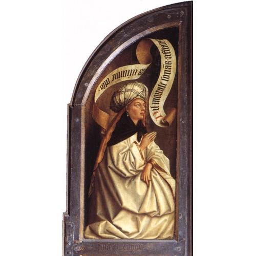 The Ghent Altarpiece Erythraean Sibyl