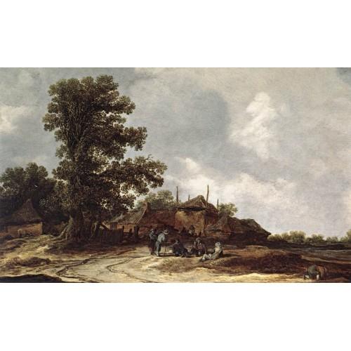 Farmyard with Haystack