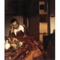 A Woman Asleep at Table