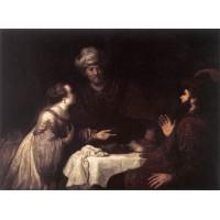 Esther and Haman before Ahasuerus