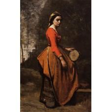 Gypsy with a Basque Tamborine
