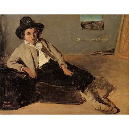 Italian Youth Sitting in Corot's Room