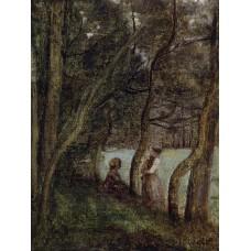 Les Alinges Haute Savoie Figures under the Trees