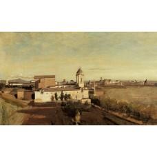 Rome Trinita dei Monti View from the Villa Medici