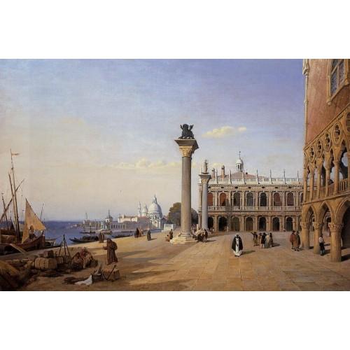 Venice the Piazetta View from the riva degli Schiavoni