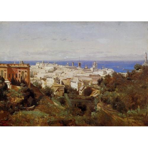 View of Genoa from the Promenade of Acqua Sola