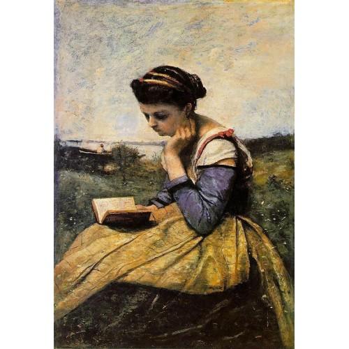 Woman Reading in a Landscape