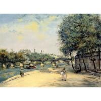 The Institute de France and the Pont des Arts Paris