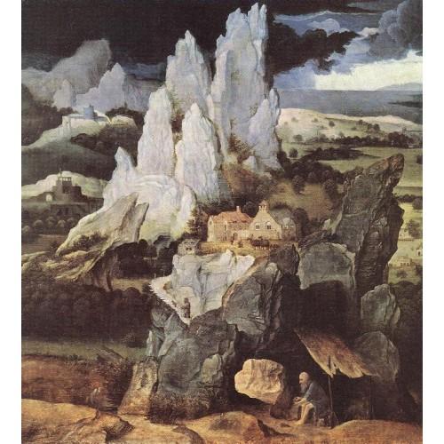 St Jerome in Rocky Landscape