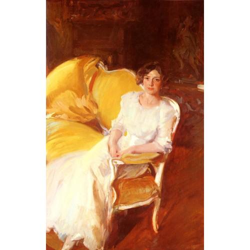 Clotilde Seated on the Sofa