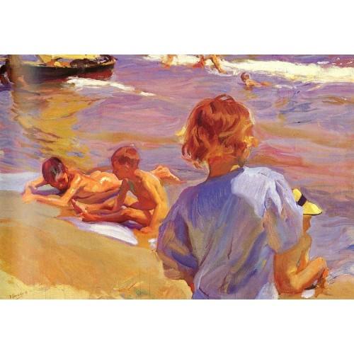 Ninos en la Playa (Valencia)
