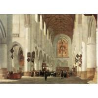 Interior of the St Bavo Church at Haarlem