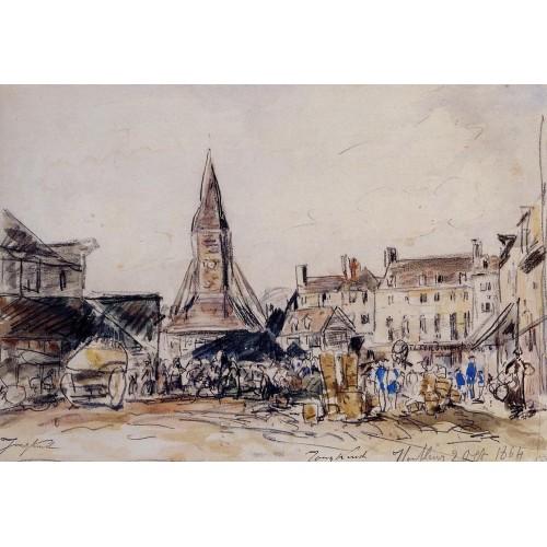 Honfleur Market Place