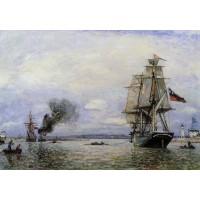 Leaving the Port of Honfleur