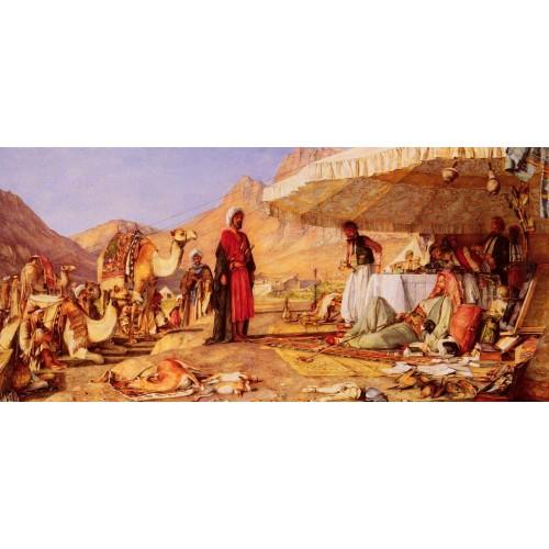 A Frank Encampment In The Desert Of Mount Sinai