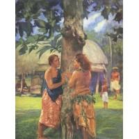 Portrait of Faase the Taupo of the Fagaloa Bay Samoa