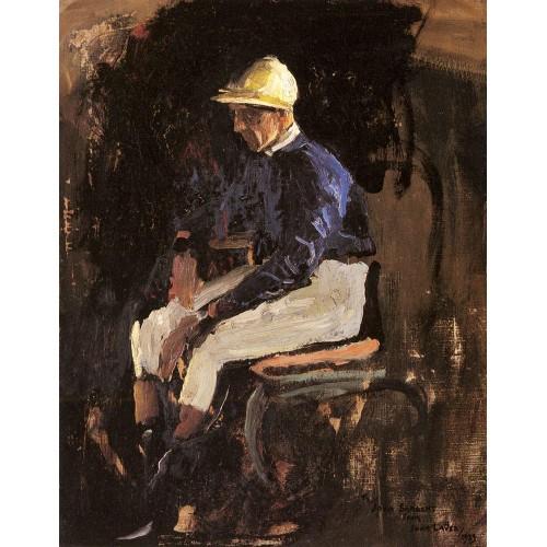A Portrait of Joe Childs the Rothschild's Jockey
