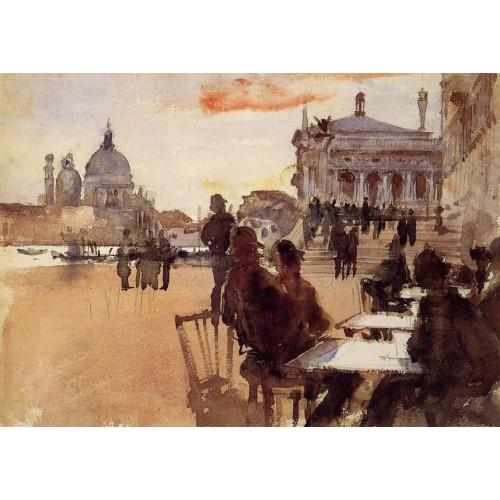 Cafe on the Riva degli Schiavoni