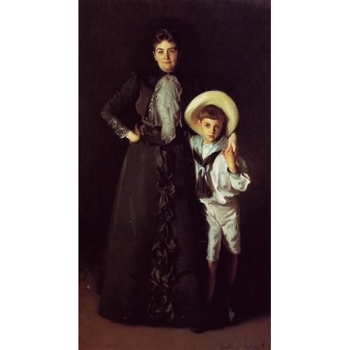 Mrs Edward L Davis and Her Son Livingston Davis
