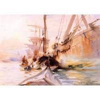 Unloading Boats Venice