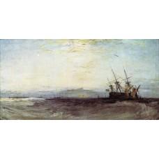 A ship aground