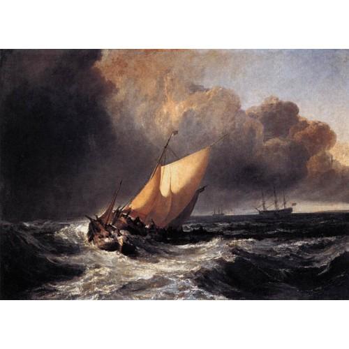 Dutch boats in a gale