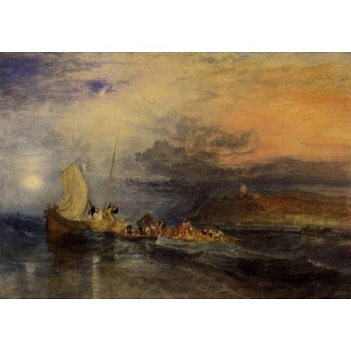 Folkestone from the sea