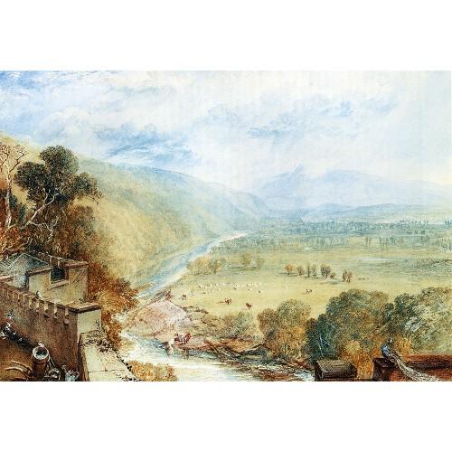 Ingleborough from the terrace of hornby castle