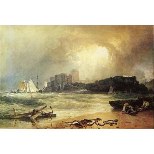 Pembroke caselt south wales thunder storm approaching