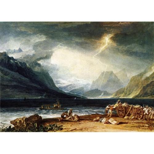 The lake of thun switzerland