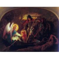 How an Angel rowed Sir Galahad across the Dern Mere