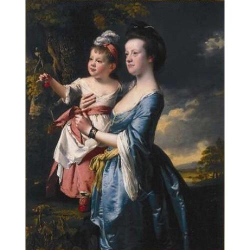 Portrait of Sarah Carver and her daughter Sarah