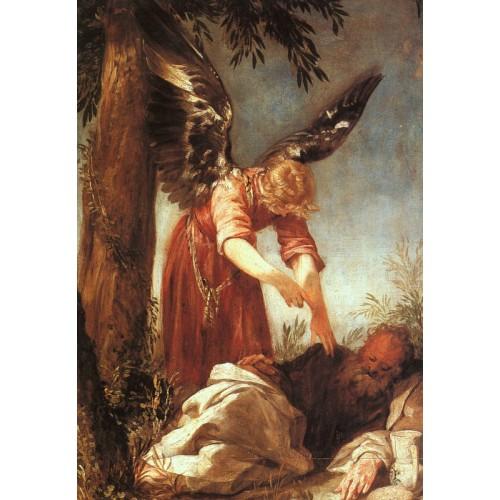 An Angel Awakens the Prophet Elijah
