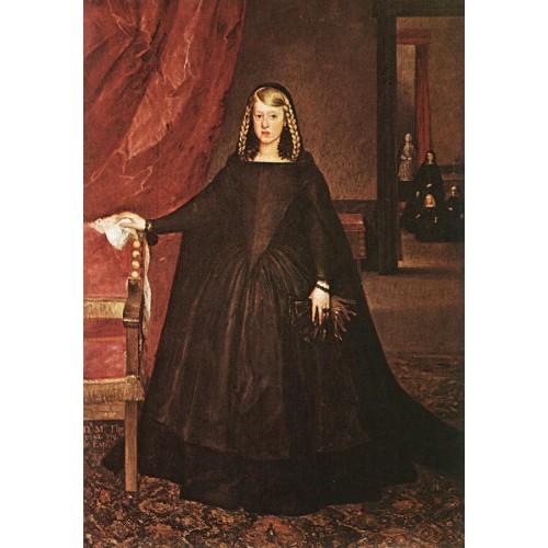 The Empress Dona Margarita de Austria in Mourning Dress