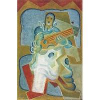 Pierrot playing guitar 1923
