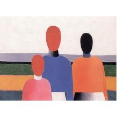 Three woman figures