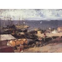 Arkhangelsk port on dvina 1894