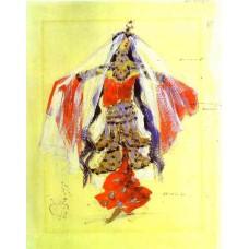 Dancer costume design for rubinstein s opera