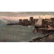 Harbor in norway 1894