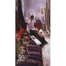 In the artist s studio 1892