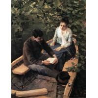 In the boat 1888