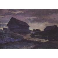 Landscape with cottages 1894