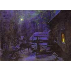 Moonlit night winter 1913