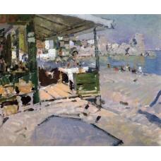On the beach in the crimea 1909