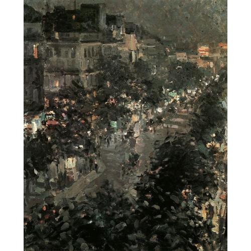 Paris at night boulevard des italiens 1908